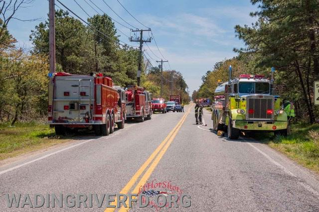 Manorville Brush Fire. Photo By. LI Hot Shots Photography