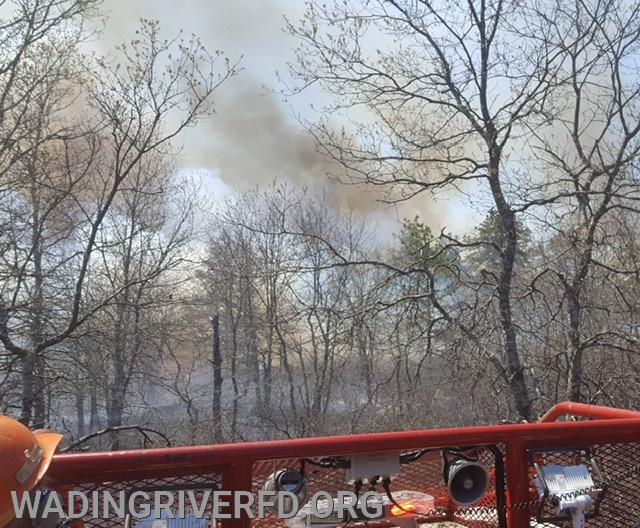 Manorville Brush Fire. Photo By. WRFD
