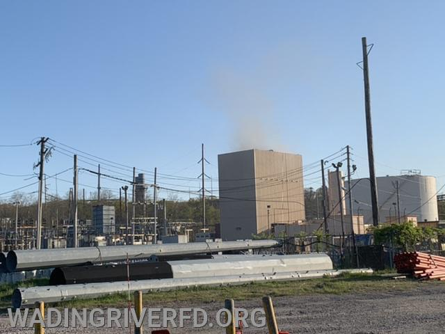 Generator Fire Shoreham Power Plant. Photo By. WRFD