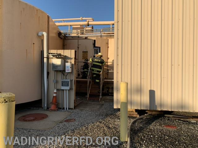 Generator Fire Shoreham Power Plant. Photo By. WRFD