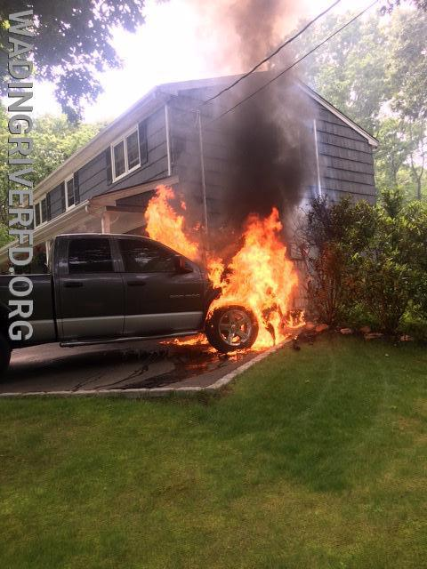 Vehicle Fire Overhill Rd. Photo By. WRFD