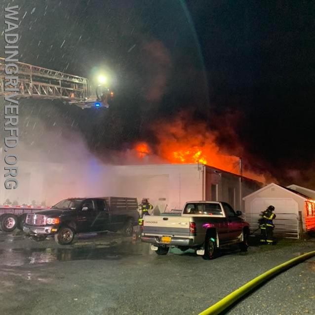 Working Commercial Fire N. Country Rd. Photo By. WRFD