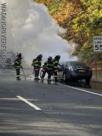 Vehicle Fire William Floyd Parkway. Photo By. WRFD