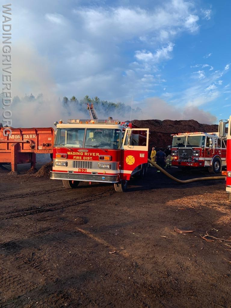 Mutual Aid Riverhead FD Mulch Fire. Photo By. WRFD