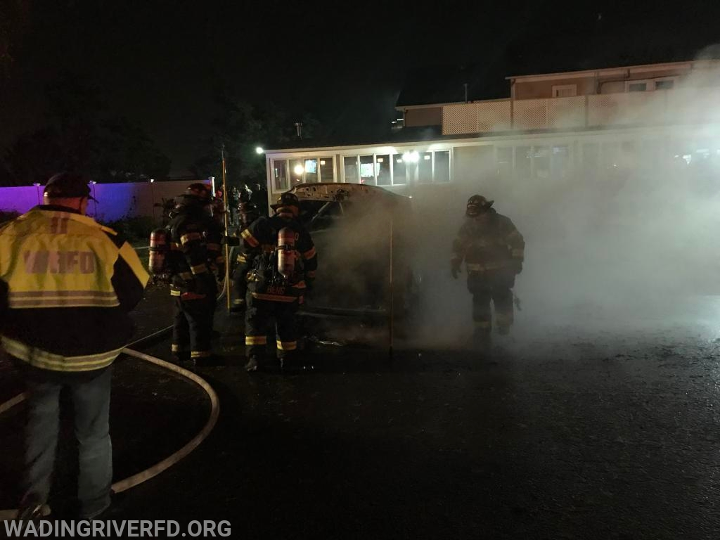 Vehicle Fire Phil's Restaurant Photo By. WRFD