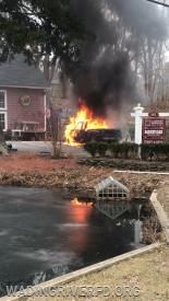 Vehicle Fire North Country Rd. Photo By. WRFD