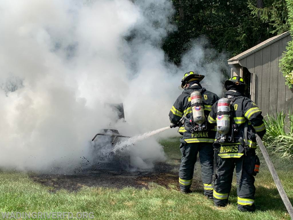 Lawn Tractor Fire Sunny Line Dr. Photo By. WRFD